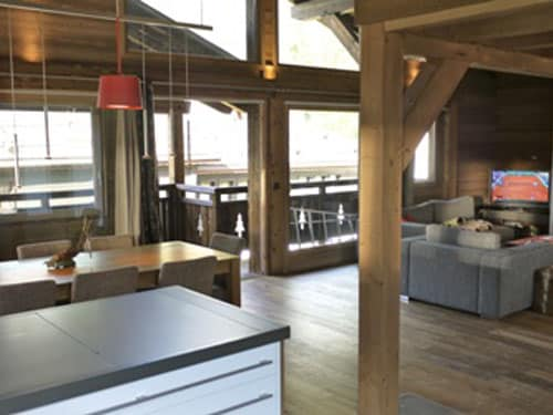 Chalet Argentiere - Pic Of Living Room And Kitchen | Bed n Board | Seasonal Accommodation In Chamonix